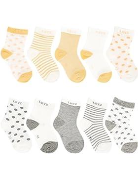 Ateid 10 Paar Kinder Socken Baby Söckchen aus Baumwolle für Sommer