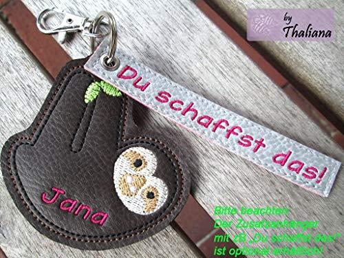 FAULTIER mit Namen personalisierbar Schlüsselanhänger Taschenanhänger tolles kleines Geschenk f. Geburtstag Muttertag