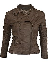 Softy Damen Lederjacke in 30 Farben Biker Style 0508 Vegan Leder