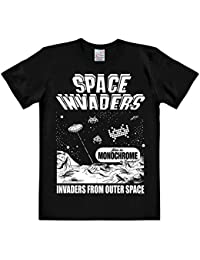 T-shirt Space Invaders From Outer Space coton haute qualité noir
