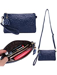 Zg Small Crossbody Wallet Bags For Women, Soft Leather Clutch Wallet Purse With Shoulder Strap By Zg Gift