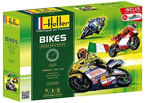 Heller 52310 Modellbausatz Grand Prix Motos 3 Modelle
