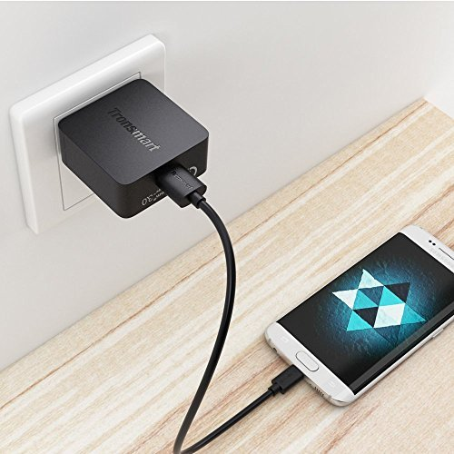 Certified Accessory for LAVA Quick Charge 3.0 18W Wall Charging Kit for Lava Iris X1 Atom S with (2) 5Ft Cables. Both a USB Type-C MicroUSB Cable! [Qualcomm Certified/110-240v/82 Voltages