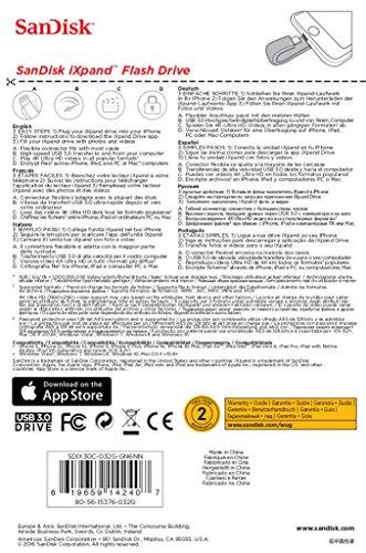 51jHn0MTuOL - [Amazon.de] SanDisk iXpand 32 GB Flash-Laufwerk Apple MFi-zertifiziert für nur 33€ *PRIME*