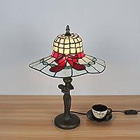 12 Pollici Creative Design Pastorale Di Tiffany Di Stile Di Cappello Sveglio A Forma Di Lampada Da Tavolo Lampada Da Comodino Per La Camera Studio