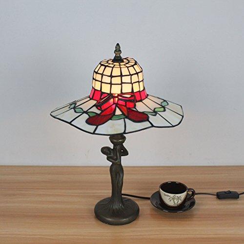 twurf Pastoral Art Netter Hut Shaped Tischlampe Nachttischlampe Für Schlafzimmer Studie ()