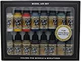 Vallejo Model Air Basic Colors Acrylic Paint Set for Air Brush - Assorted Colours (Pack of 16)