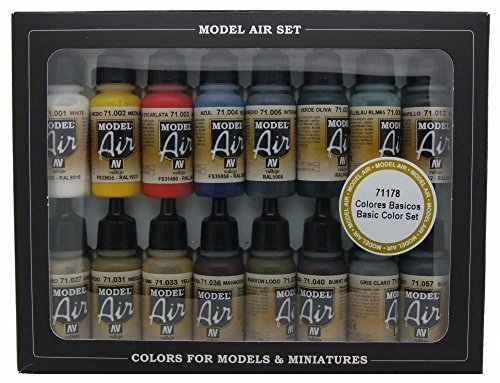 vallejo-model-air-basic-colors-acrylic-paint-set-for-air-brush-assorted-colours-pack-of-16