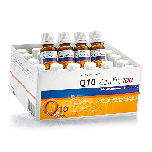 Sanct Bernhard Q10-Zellfit 100 mg Trinkfläschchen mit Coenzym Q10, Selen, L-Carnitin 600 ml