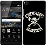 Funda carcasa para Huawei P8 Lite diseño the walking dead 1 borde negro