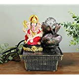 Tied Ribbons Ganesha Water Fountain for Tabletop Waterfall Indoor Outdoor Living Room Garden Home Decoration and Gifts ( 18 cm x 12.5 cm x 12.5 cm )