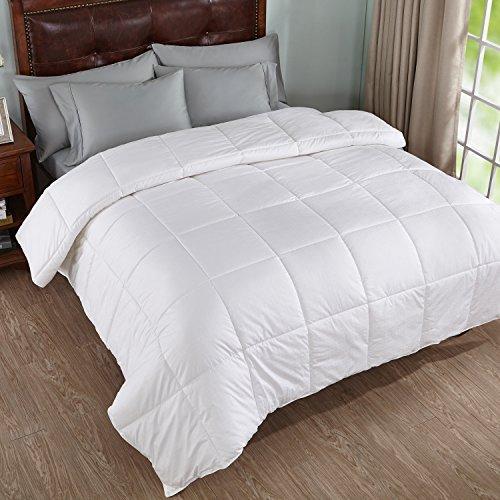 Home Elements weiß Down Alternative Bettwäsche Einsatz Tröster mit Baumwolle shell-squared Jaquard, weiß, baumwolle, weiß, King Size -