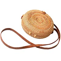 fashion Lady Crossbody Bags pastoralism style bag retro literary hand-woven rattan handbags shoulder bags