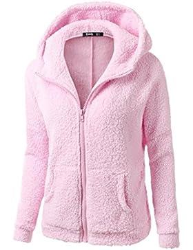 ropa de mujer otoño invierno abrigo chaqueta,RETUROM Abrigo con capucha de lana con cremallera caliente de invierno...