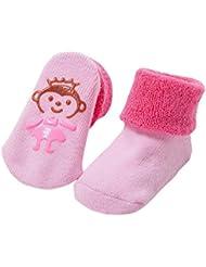 Tongshi Preciosa muchacha del bebé de la historieta de impresión elástico calcetines