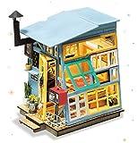 ROLIFE Miniatur Puppenhaus mit Möbel Kit Holz DIY Haus mit Lichter 3D Craft Modell-Beste Spielzeug für Mädchen und Jungen-Top-Geschenke für Erwachsene(Holzhütte)