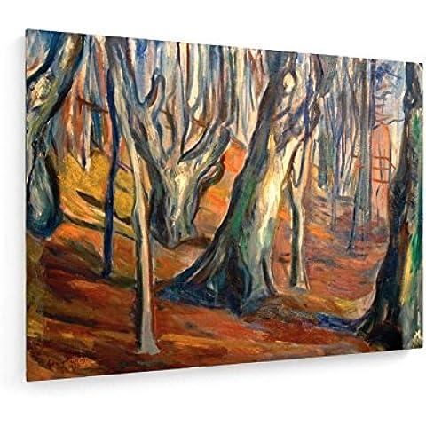 Edvard Munch, autunnali (alberi secolari, Ekely) - 80x60 cm - weewado - Belle stampe d'arte tela - arte della parete