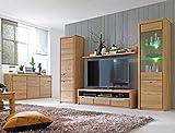 expendio Wohnzimmer Pisa 52 Eiche Bianco massiv 5-teilig Wohnwand Sideboard Wohnmöbel