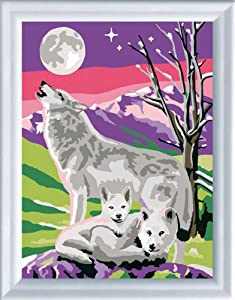 Ravensburger 29238  - Paint by Numbers, Wolf Mother, 24x18 cm