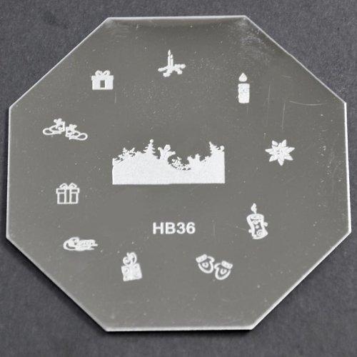 Nail Art emboutissage des tôles - HB36 CODE : HB36-plaque