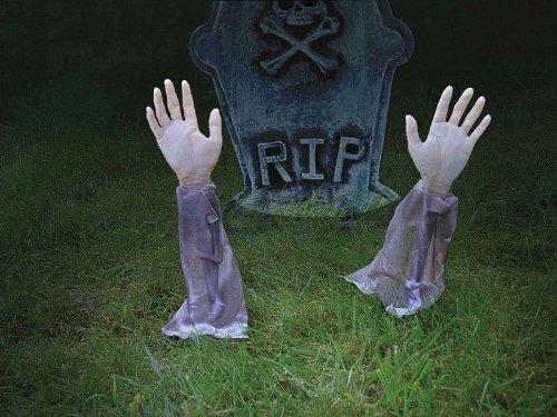 2 Stück Zombie Hände Halloween Dekoration innen und draußen (Ideen Für Halloween Dekorationen)
