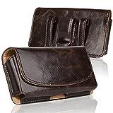 iPhone 7 Gürtel Clip Holster, iNNEXT große Kapazität horizontale Leder Holster Gürtel Clip Taille Tasche Geld Tasche tragen Tasche mit Magnetverschluss für Männer Gürteltasche Smartphone Holster (Brwon 4,7 Zoll)