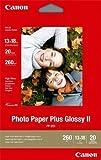 Canon Fotopapier, 20 Blatt 13 x 18, Hochglänzend glossy, PP-201 Photo Paper Plus Glossy II 260g, 13x18, PP201