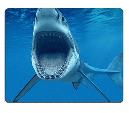 MP606 Tiere Hai Wildlife Zahn Zahn Maus Raubtier seerecht abzufedern unterstützung Bereit für Hochwertige Umwelt, Tuch und Neopren - Mousepad