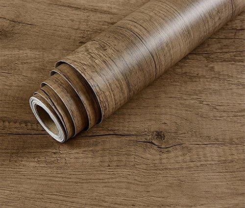 Dekorative Faux Holzmaserung Kontakt Papier Vinyl selbstklebend Regal Schublade Liner für Badezimmer Küche Schränke Regale Kunst und Handwerk Aufkleber 61x 297,2cm (Handwerk Bücherregal & Kunst)