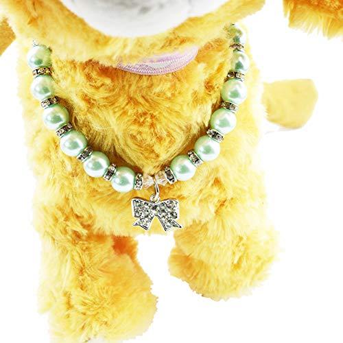 Faux Strass Halskette Anhänger Bling Kragen Pet Dekoration,M ()