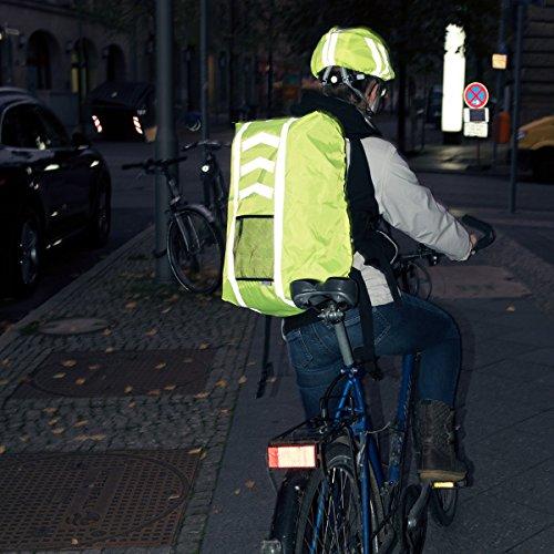 kwmobile Regenschutz Set für Helm Rucksack – Helmüberzug Regenhülle Schulranzen Helmschutz – Schutzhülle Fahrradhelm Ranzen – unisex - 2