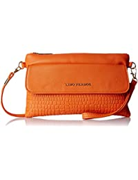 Lino Perros  Women Sling Bag (Orange)(LWSL00218)