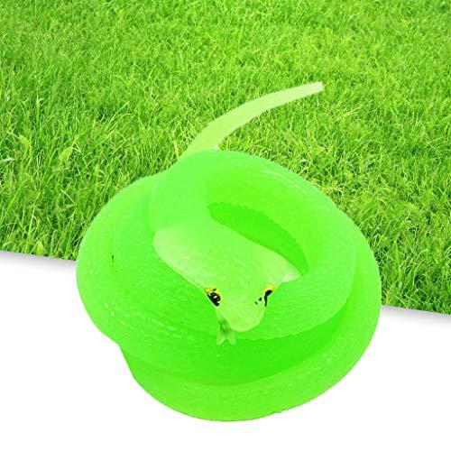 TriLance Kunststoff Weichem Simulation Schlange Kobra gefälschte Schlange Schelmisch Gruselig Parodie Spielzeug, Neue Gummi Schlangen Party Halloween Prop Witz Weiche interaktive Spielzeug (Halloween Puppe Streich)