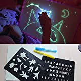 Genenic A4 Zeichentafel mit Licht im Dunkeln Kinder Lustiges Spielzeug Zeichentafel Set in Box Russische Sprache 2018 Jungen Mädchen Spielzeug
