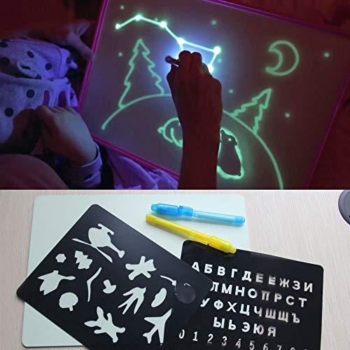 A4 Zeichentafel mit Licht im Dunkeln Kinder Lustiges Spielzeug Zeichentafel Set in Box Russische Sprache 2019 Jungen Mädchen Spielzeug