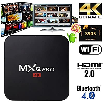 Hemara MXQ Pro TV Box Android Amlogic S905 Chipset Kodi 15.2 Full Loaded Android 5.1 Lollipop Quad Core 1G/8G 4K Google Streaming Media Players OS with WiFi HDMI DLNA