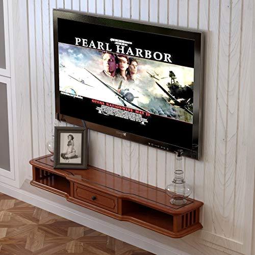 Mobile tv a parete console tv con il cassetto mensola a muro galleggiante mensola supporto tv mensola di esposizione multifunzionale multimedia immagazzinamento mensola