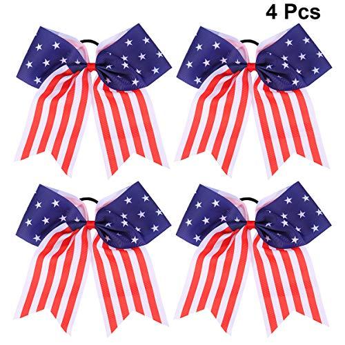 Lurrose Haarband mit Amerika-Flagge, elastisch, Pferdeschwanz, für Kinder, Mädchen, 4. - Patriotische Kostüme Für Kinder
