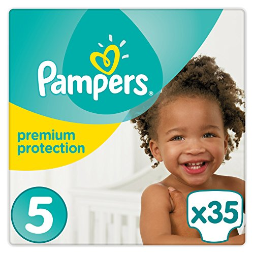 Pampers - Premium Protection - Couches Taille 5 (11-16 kg) - Pack Géant (x35 couches)