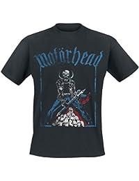 Motörhead Axe Skulls Camiseta Negro