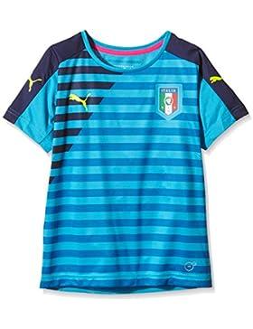 Puma Niños T-Shirt FIGC Italia Stadium jersey, Atomic Blue-chaquetón, 152, 748977 07