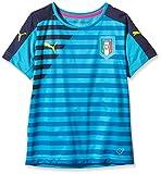 PUMA T-shirt da bambino FIGC Italia Stadium Jersey, Atomic Blue-bambino, 176, 748977 07