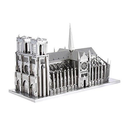 Fascinations Metal Earth ICX003 - 502884, Notre Dame, Konstruktionsspielzeug, 2 Metallplatinen, ab 14 Jahren