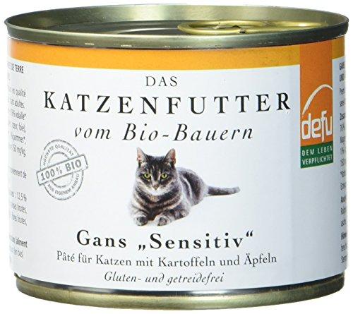 defu Bio Nassfutter Gans für Katzen Gluten und Getreidfrei 200 g, 12er Pack (12 x 200 g)
