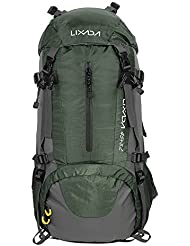 Lixada 50L Zaino Impermeabile Sport Trekking Escursioni Campeggio Alpinismo Arrampicata Zaino in Spalla Con Copertura a Pioggia