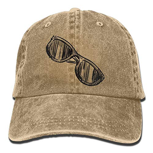 Trucker-Baseballmütze für Männer, Sketch Glasses Hat Snap-Back Hip-Hop Cap Baseball Hat Head-Wear Cotton Snapback Hats Red