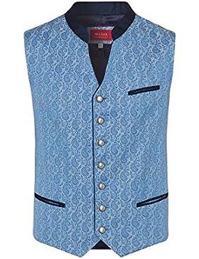 Moser® Herren Trachtenweste hellblau gemustert Vincenz 004418