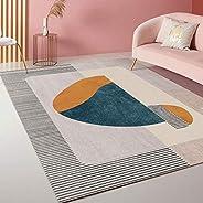 Area Rugs, Modern Pink Series Pattern Carpet for Living Room Bedroom - Kids Playroom Nursery Classroom Dining