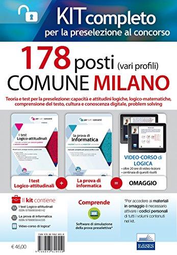 Concorso 178 Posti Comune di Milano. Kit per la preselezione. Con Contenuto digitale per accesso on line