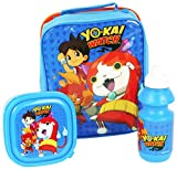 yo-kai Watch 4105 V-6667 3 pezzi (Insukated Cooler lunch bag, contenitore per sandwich e 350 ml Bottiglia sport)